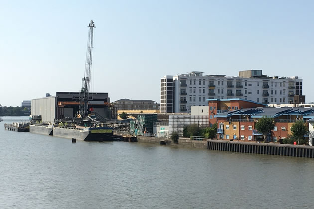 The tideway construction site at Fulham