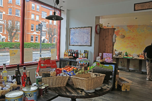 Restaurant in Fulham, turned into grocers