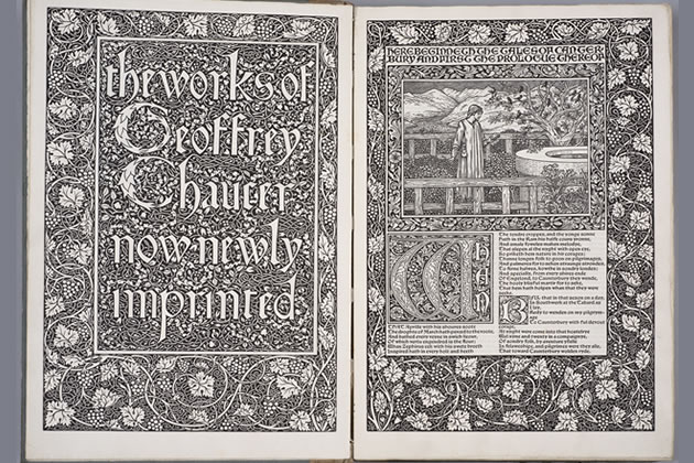 A copy of the Kelmscott Chaucer